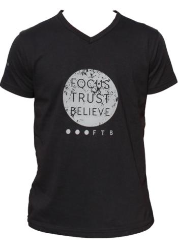 FTB Full Moon Mens V-Neck T-Shirt