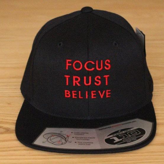Focus Trust Believe   FTB 110 Delux Cap Red