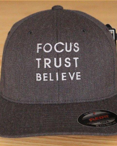Focus Trust Believe | FTB OSFA Cap Grey